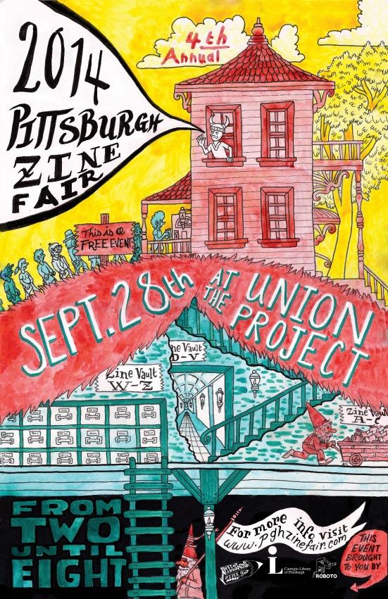 2014 Pittsburgh Zine Fair Poster